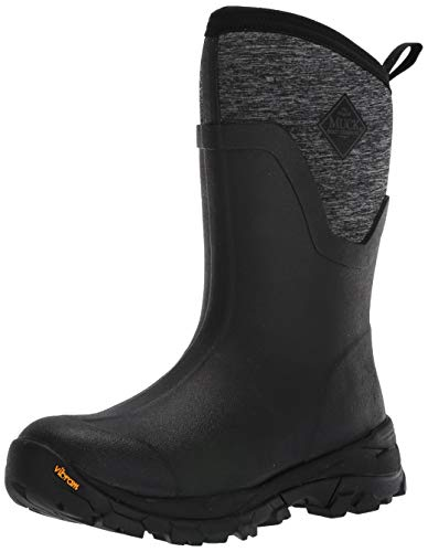 Muck Boot Women's Arctic Ice Mid Snow Boot, Black/Heather Jersey, 8 Regular US