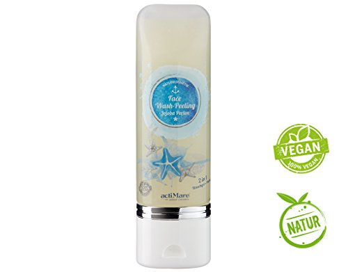 Face Wash Peeling mit Jojoba Pearls - Naturkosmetik | natürlich + Vegan | von actiMare natural cosmetics
