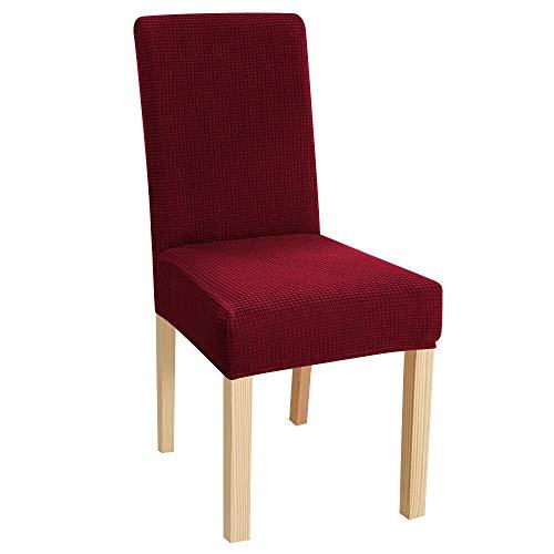JS One Dining Henriksdal stol tvättbar avtagbar stretch överdrag överdrag skydd – röd