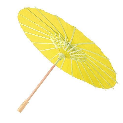 Papier Paraplu, Delaman Blank Papier Paraplu Decor Props voor Kinderen DIY Hand Schilderen 1 ST Geel