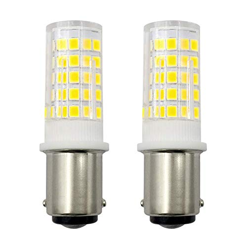 4W B15 Nähmaschine Licht B15D LED Dimmbar Glühbirne 30W 35W 40W Halogen Equivalent SBC Kleine Bajonett LED Birnen 230V Kaltweiß 6000K (2er Pack) [MEHRWEG]
