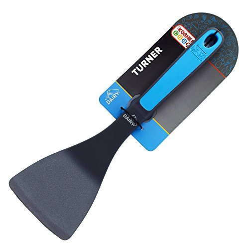 Dairy Blue Turner Spatula - Heavy Duty Silicone Kitchen Utensil for Cooking and Baking - Ergonomic Handle and Comfortable Grip - Color Coded Kitchen Tools by The Kosher Cook