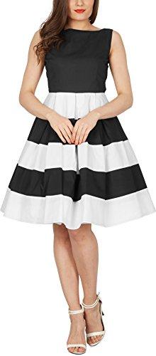 BlackButterfly 'Lilly' Vintage Gestreift Kleid im 50er-Jahre-Stil - 4