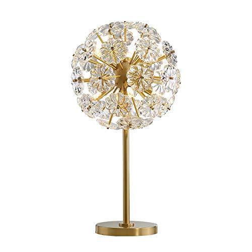 Lámpara de Mesa Salón Grande Lujo luz lámpara moderna de cobre completa mesa de cristal, lámpara de noche en la sala de estar, dormitorio estudio, iluminación minimalista moderna
