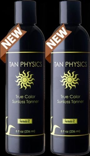 Tan Physics True Color (2 pack) w/ 5 FREE pairs of application gloves, Sunless Tanner