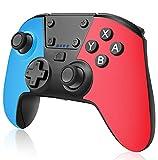 QULLOO Mando para Nintendo Switch, Inalámbrico Switch Mando Pro con Turbo y Vibración Dual, Bluetooth Controlador con Gyro Axis, Gamepad Joypad ergonómico para Switch/Lite