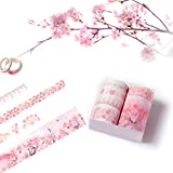 Washi Tape 7 Rools, Cute Floral Blossom Masking Tape Decorative...