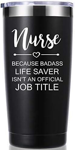 Nurse Because Badass Life Saver Isn t An Official Job Title 20 OZ Tumbler Inspirational Appreciation product image