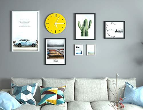 GIYL Multi fotolijsten, moderne massief houten fotomuur, fotolijst, wandframeset voor thuiskantoor