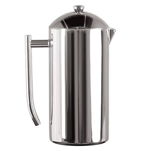 Frieling USA Double-Walled Stainless-Steel French Press Coffee Maker in Frustration Free Packaging, Polished, 17 Ounces