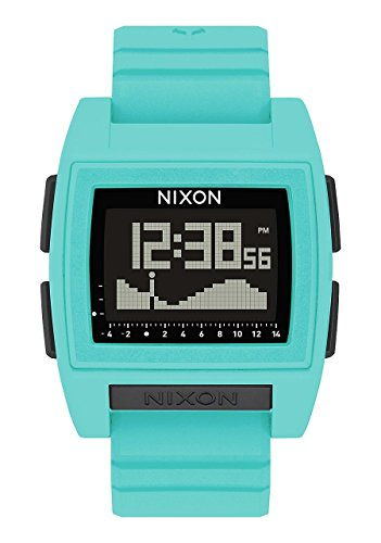 Nixon Herren Digital Smart Watch Armbanduhr mit Silikon Armband A1212-272-00