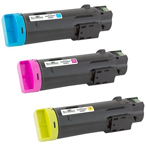 Speedy Inks Compatible Toner Cartridge Replacement for Dell H625/H825 (1 Cyan, 1 Magenta, 1 Yellow, 3-Pack)