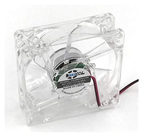 Controlador de Ventilador Fan de enfriamiento de 80 mm de computadora con 4EA 8025 8cm CHASIS SILENTLULTUMINOUSULO PLUGA AXIAL Fan Ventilador (Blade Color : LED Fan 1PCS)