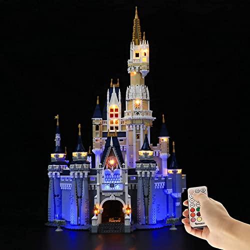 Kit di illuminazione a LED per il castello Disney, compatibile con i blocchi di costruzione Lego 71040, versione aggiornata con telecomando, non include il set Lego