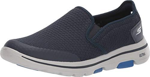 Skechers Herren Go Walk 5 Apprize Slip On Sneaker, Blau (Navy), 11.5 UK (46 EU)