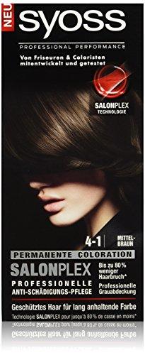 Syoss Haarfarbe, 4-1 Mittelbraun, 3er Pack (3 x 115 ml)