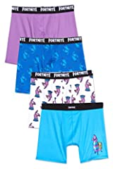 FORTNITE Get ready for your next Battle Royale in these Fortnite pajamas. You are sure to dream of wins galore in these thrill-inducing gaming pajamas officially licensed Fortnite product 4-PACK BOXER BRIEF: Ensure all day and night comfort with a li...