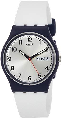 Swatch Unisex-Uhr Digital Quarz mit Silikonarmband – GN720