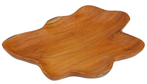 Onbekend exquisiet 30 cm houten schaal teakhout decoratie fruitschaal handgemaakt Bali Teak 08