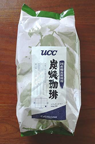 UCC 業務用 炭焼珈琲豆 500g 国産備長炭使用