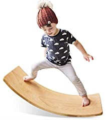DEVELOP KIDS STRENGTH: The wooden board for balancing its creation is due to the community.  It stimulates the vestibular system, which is of great importance for general development and learning. It supports the muscles responsible for the correct p...