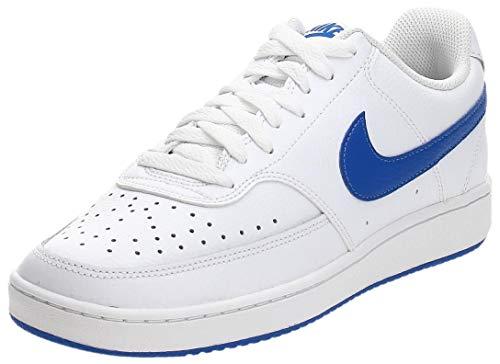 Nike Court Vision LO, Zapatillas de Baloncesto. para Hombre, White Game Royal, 44 EU