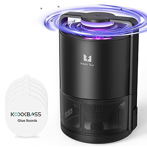 KOXXBASE Mückenfalle Elektrisch, USB Tragbar Mücken Killer und Insektenvernichter Mückenlampe mit UV-Licht Moskito Zapper Anti Mücken Mückenlicht für Innen