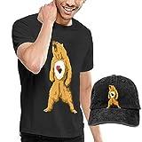 sunminey Homme T- T-Shirt Polos et Chemises Care for Real Bear Washed Baseball-Cap +...