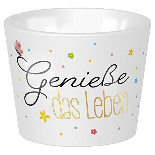 Gruss und Co Sheepworld, 47215 - Eierbecher »Leben«, 4cm x 5cm, Porzellan, spülmaschinengeeignet