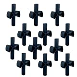 12 Pieces Trampoline Enclosure Pole Gap Spacers -Trampoline Plastic Safety Enclosure Replacement Accessories