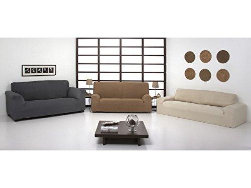 Regalítos TV (3+2) Funda ELÁSTICA Ajustable para SOFÁ Túnez (Todos los tamaños y Colores) + 3 Pares de Calcetines Duo (1x 2 plazas) + 1x 3 plazas, Burdeos