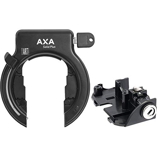 AXA Rahmen- + Akkuschloss-Set Solid Plus Gepäckträgermontage f. Bosch 2 Systeme