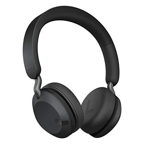 Jabra Elite 45h – Auriculares inalámbricos On-Ear compactos y Plegables – hasta 50 Horas de batería – tecnología de Llamadas a Dos micrófonos – Color Negro Titanio, Ajustable