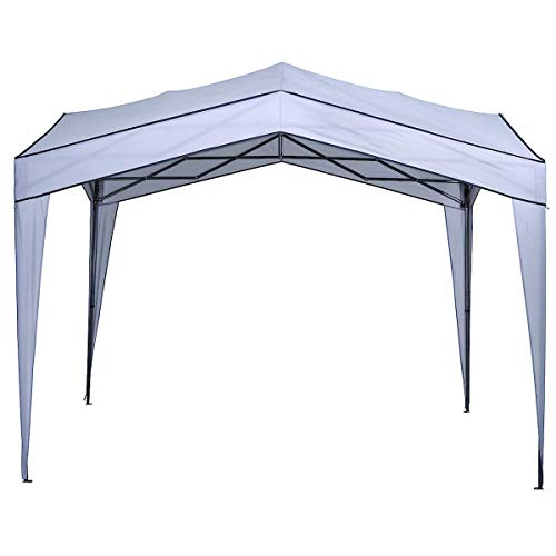 Clas Ohlson Garden Pop Up Gazebo - 3x3 m, Light Grey, Outdoor Tent Canopy Shelter, Garden Parties, Barbeques