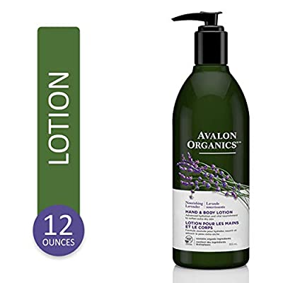 Avalon Organics Nourishing Lavender Hand & Body Lotion, 12 oz.