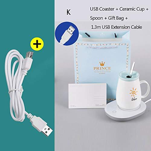 Intelligente USB-drinkwarmer met nono-verwarming, 55 graden constante temperatuur, waterdicht, corrosiebestendig