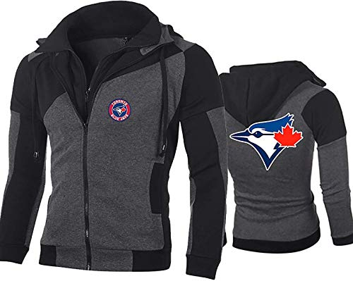 ZAHOYAN MLB - Sudadera con capucha para hombre, diseño de logotipo de Toronto Blue Jays de la Major League de béisbol, ropa deportiva, camiseta 3D, chaqueta unisex, talla B-L