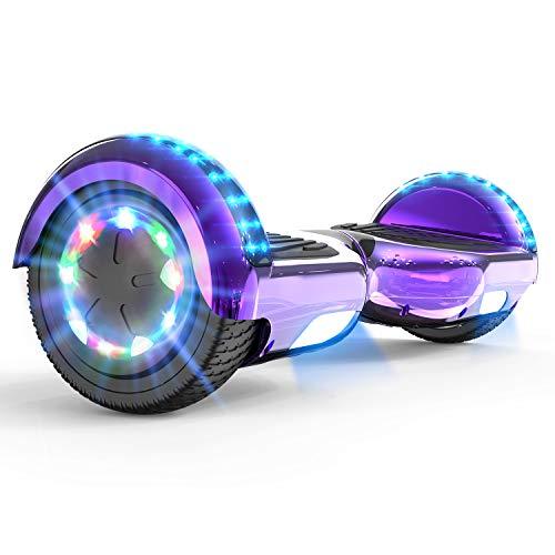 MARKBOARD Hoverboard Patinete Eléctrico Auto Equilibrio Hover Scooter Board 6.5 Pulgadas con Fuerte Dual Motor y LED E-Skateboard Bluetooth Regalo para Niños y Adultos