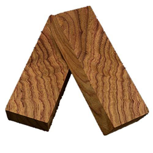 Aibote 1 Paar Afrikanisches Gelbes Birnenholz Messergriffwaagen Holzgriffe Materialplattenmesser Benutzerdefinierte DIY-Werkzeuge für die Schmuckherstellung leeren Klingen (3.54