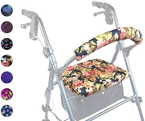Crutcheze Designer Floral Rollator Walker Cove and Direct quality assurance store Seat Backrest