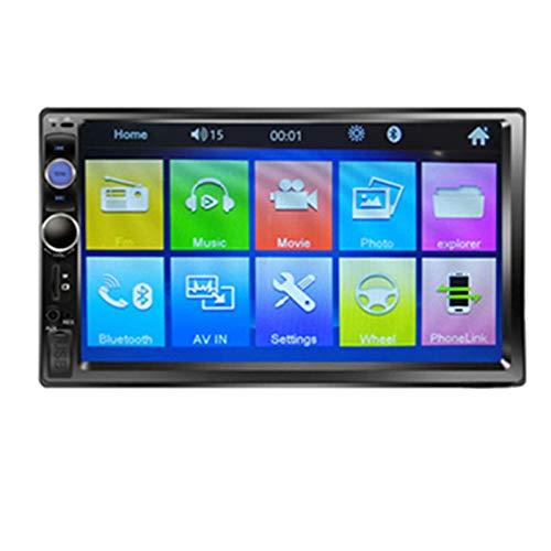 QIQIDIAN Navigazione GPS Autoradio HD Touch Screen Lettore Multimediale Radio Stereo Automatica Universale da 7 Pollici,7023b Radio Only