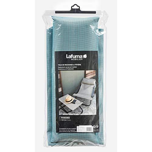 Lafuma Toile Batyline pour chaise longue Transabed avec têtière coordonnée, Couleur: Lac, LFM2839-8553
