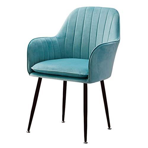 Sillas de comedor de terciopelo de terciopelo suave para sala de estar con patas de metal robustas sillas de cocina para comedor, sala de estar, recepción, sillas de oficina