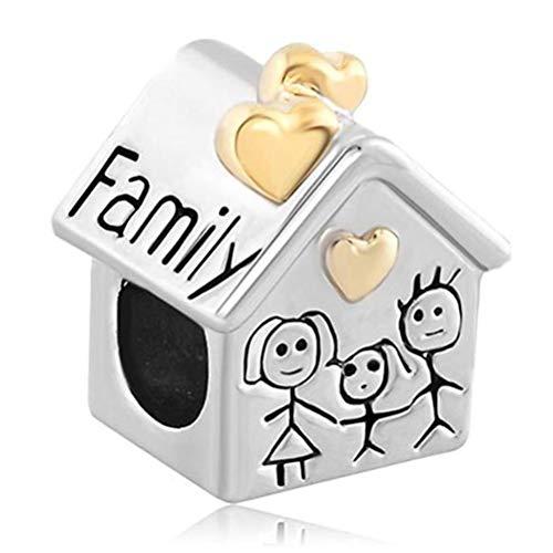 Perline familiari per bracciale Charm Fit Charms Pandora Diy