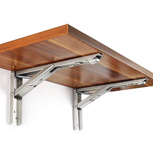 Soporte de estante flotante Soporte en ángulo 2pcs / triángulo conjunto plegable de apoyo pesado ajustable montado en la pared banco del vector de soporte de hardware de los muebles para la decoración
