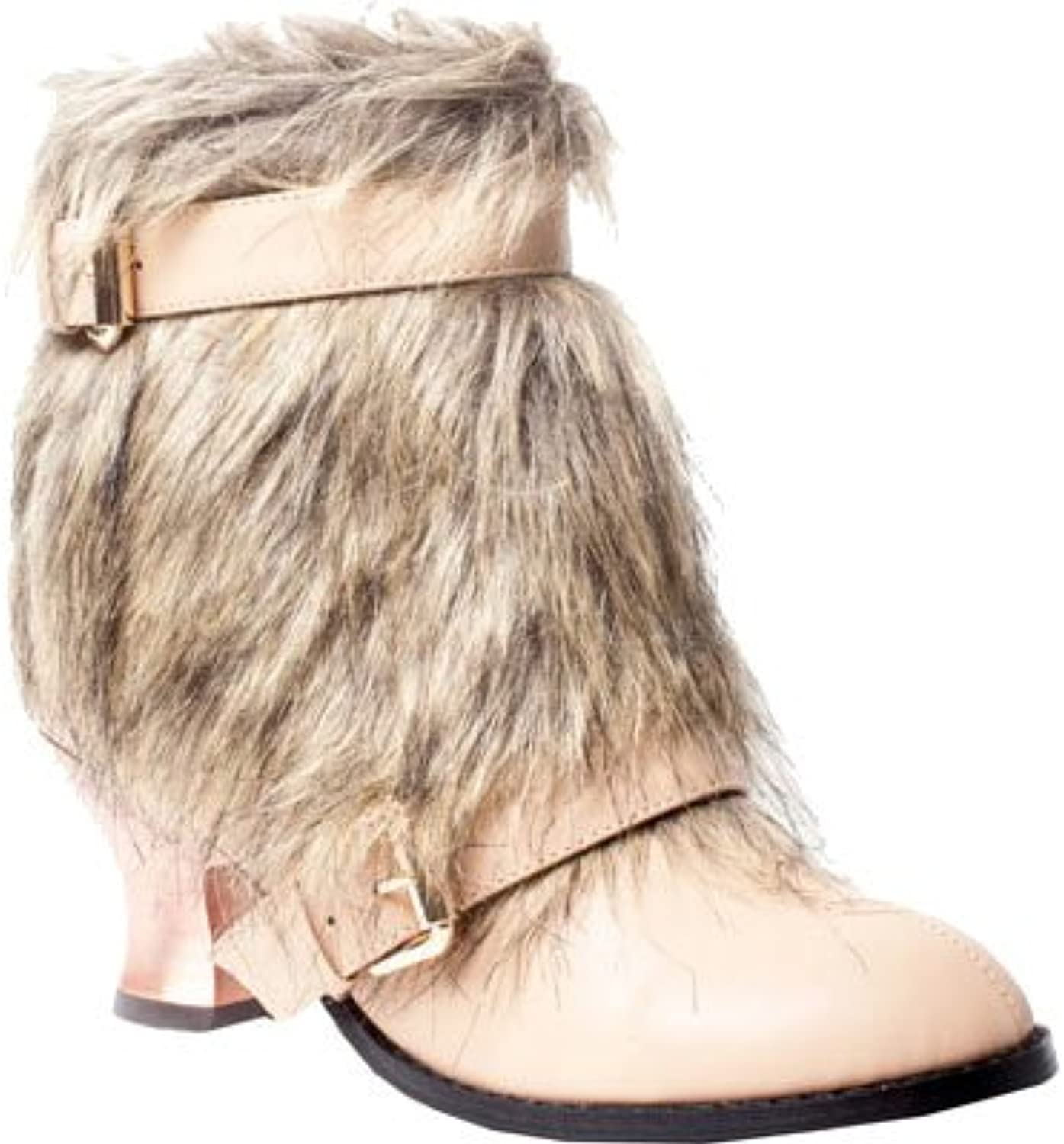 Hades shoes H-ELEN Animal friendly fur and synthetic leather low boot shoes 10   Tan