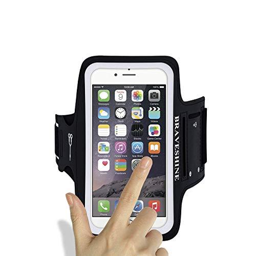 Sportarmband Handyhülle universell für Samsung Galaxy S10 Plus/ S20 Plus/S9 Plus/S8 Plus, Ideal für Laufen und Joggen bis zu 6,2