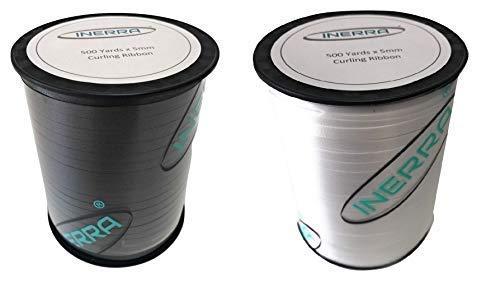 INERRA ballon krullint - 2 x 500 werf spoelen (zwart en wit) - 5mm breed