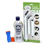 Bar Keepers Friend Cooktop Cleaner with 3-in-1 Detail Cleaning Brush...