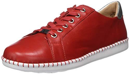 CAPRICE Damen Inna Sneaker, Rot, 40 EU